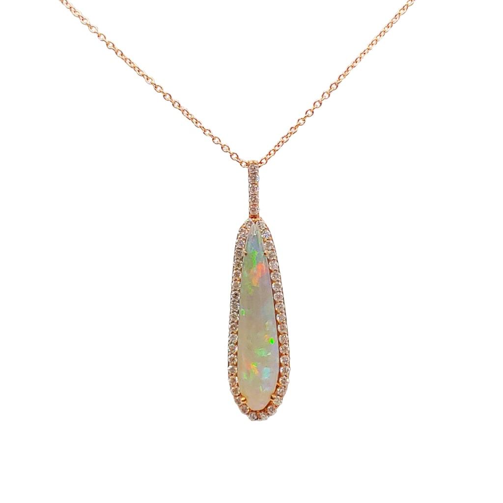 opal teardrop pendant