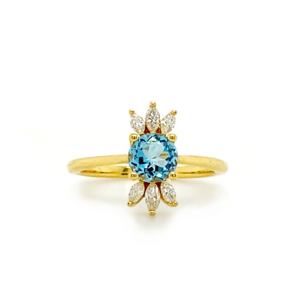 marquise diamond ring settings with side stones