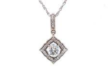 lab diamond pendant necklace