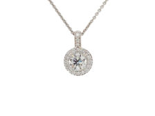 circle diamond pendant necklaces