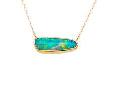 boulder opal pendant necklace