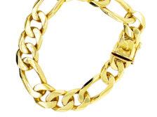 solid gold cuban link bracelet