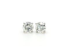 single diamond earrings