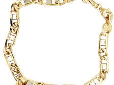 mens 14k gold chain bracelet
