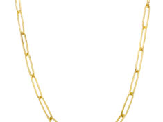 18 inch 14k gold paperclip chain