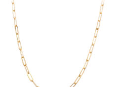 14k rose and white gold chain necklace 18in