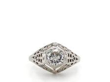 vintage diamond ring settings