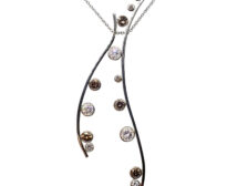 black diamond pendant necklace