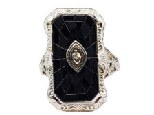 diamond and onyx rings
