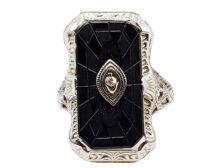 diamond and onyx rings