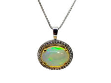 Real opal necklace