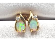 opal earrings gold