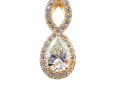 fine infinity gold and diamond pendant